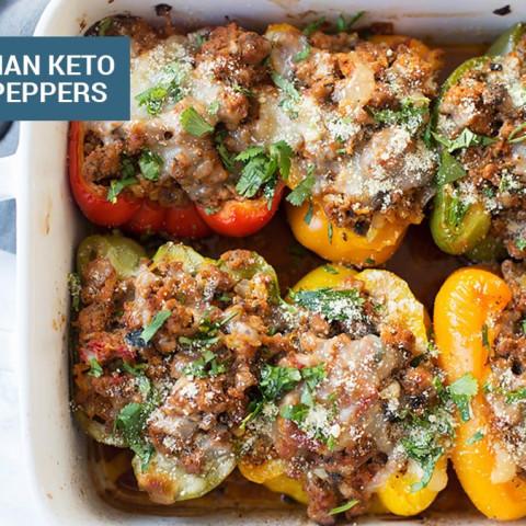 Spicy Italian Keto Stuffed Peppers