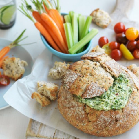 Spinach cob loaf