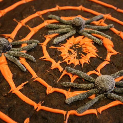 Spooky Spiderweb Cookie