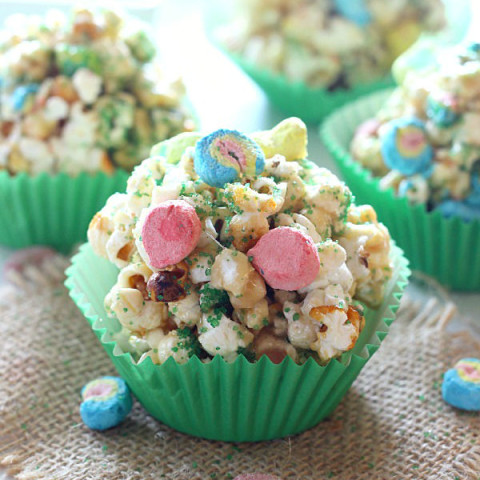 St. Patrick's Day Popcorn Balls