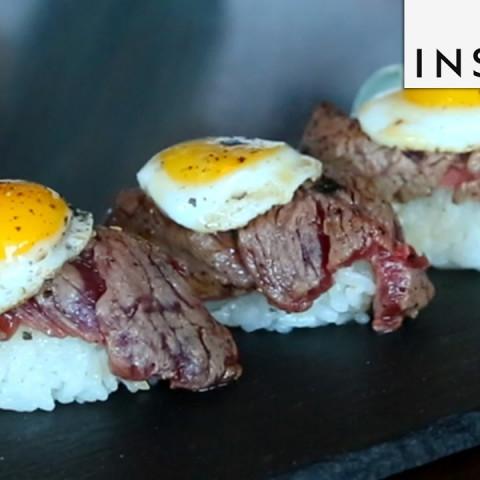 Steak and Egg Sushi