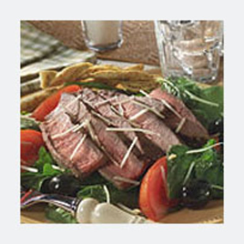 Steak and Spinach Romano Cheese Salad