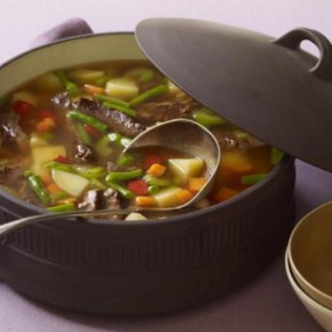 Steak, Potato And Vegetable Soup
