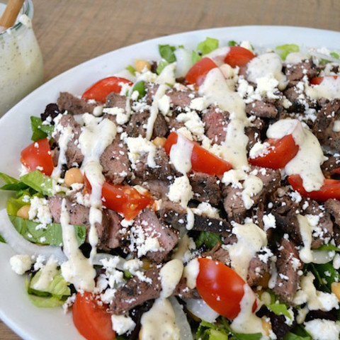 Steak Salad w/Creamy Feta Dressing