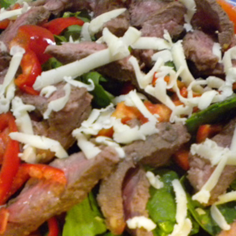 Steak & Sweet Pepper Salad