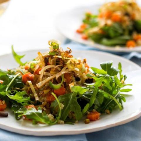 Stir-fried Leeks With Salt And Pepper Shrimp Recipe