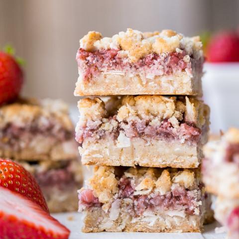 Strawberry Crumble Bars (Gluten Free, Paleo + Vegan)
