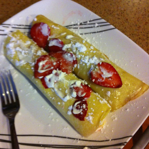 Strawberry Dessert Crapes
