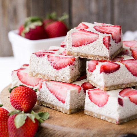 Strawberry Shortcake Bars (Gluten Free, Paleo + Vegan)