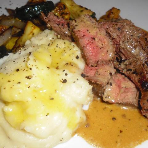 Strip Steak w/ Rosemary & Garlic (Real Simple Mag)
