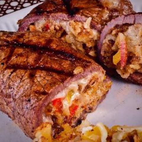 Stuffed & Grilled Flank Steak