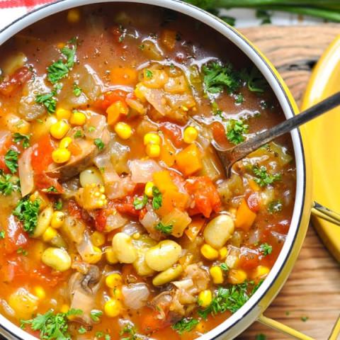 Summer Vegetable Soup {Instant Pot + Slow Cooker + Stovetop}