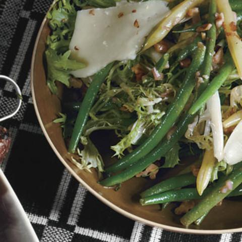 Summer Bean Salad with Toasted Walnuts and Pecorino Fresco