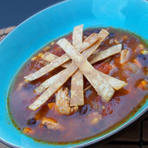 Super Simple Chicken (or Turkey) Tortilla Soup