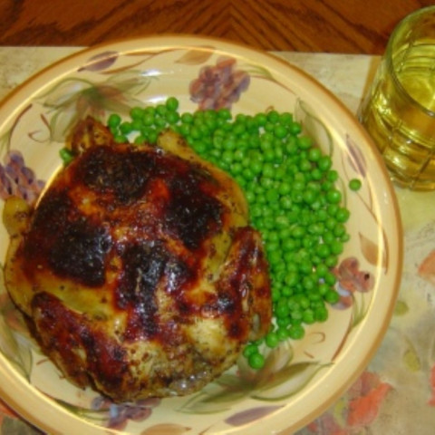 Sweet and Spicy Cornish Hens