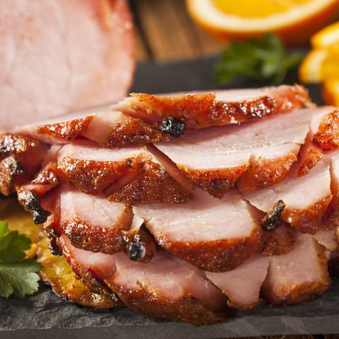 Sweet Orange Glazed Baked Ham