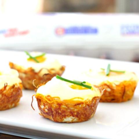 Sweet Potato Egg Nests