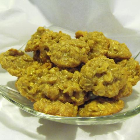 Tahini Oatmeal Walnut Cookies