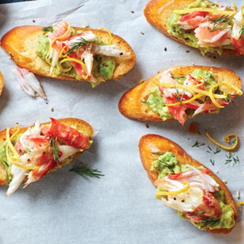 Tasty Crab Toasts