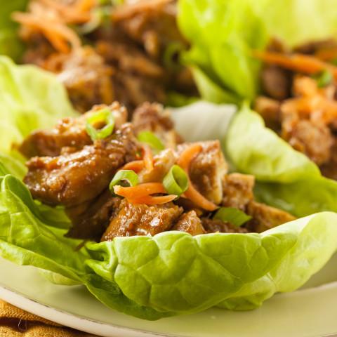 Thai Glazed Chicken Lettuce Wraps