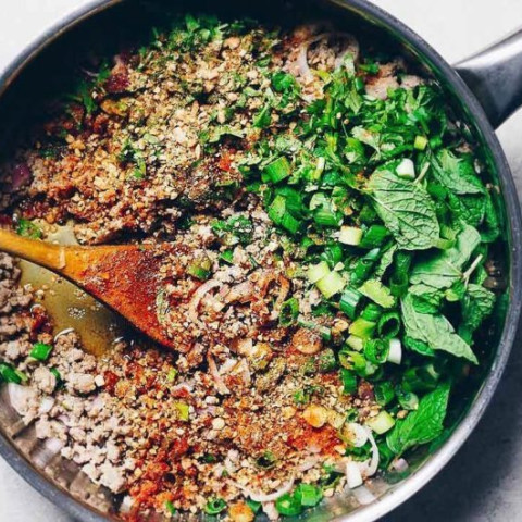 Thai Larb Recipe - Larb Moo (Paleo, Whole30, Keto)