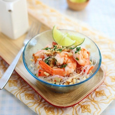 Thai Noodle Salad Yum Woon Sen Recipe