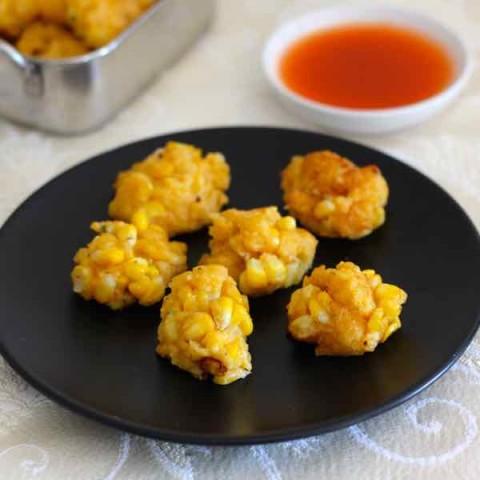 Tod Man Khao Pod (Corn Fritters)