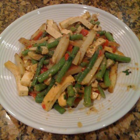 Tofu and Potato Primavera