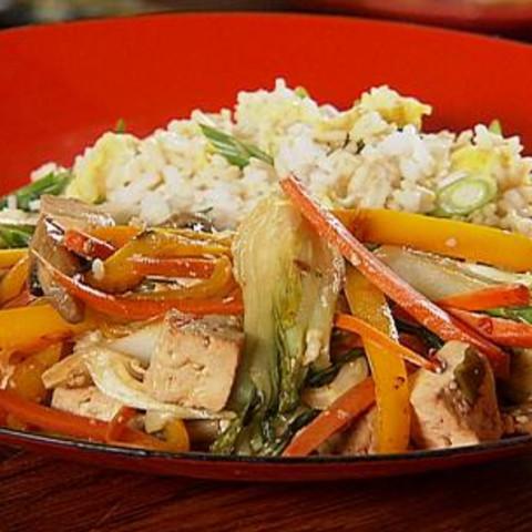 Tofu Stir-Fry with Fried Rice