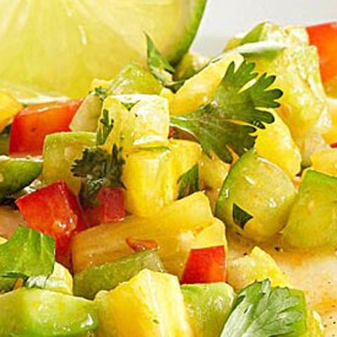 Tomatillo-Pineapple Salsa Topper for Fish