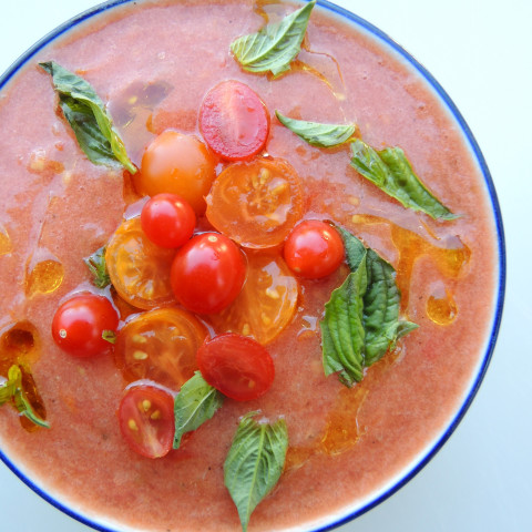 Tomato and Cucumber Gazpacho