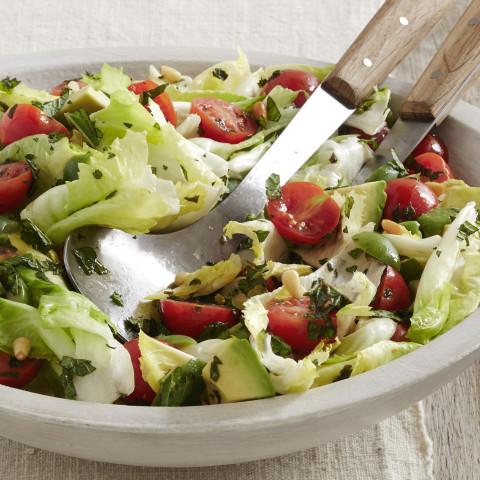 Tomato, Avocado and Escarole Salad