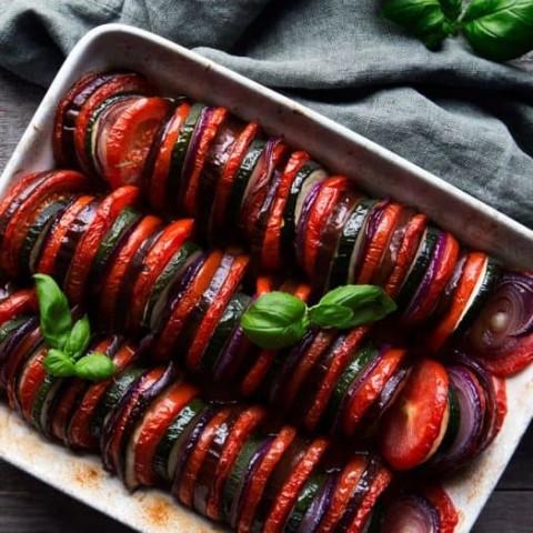 Tomato, Squash, and Eggplant Tian