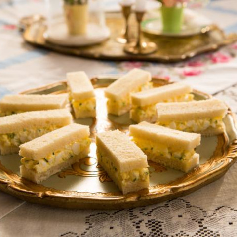 Truffled Egg Salad Tea Sandwiches