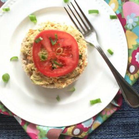 Tuna and Smashed Avocado Snack Cakes