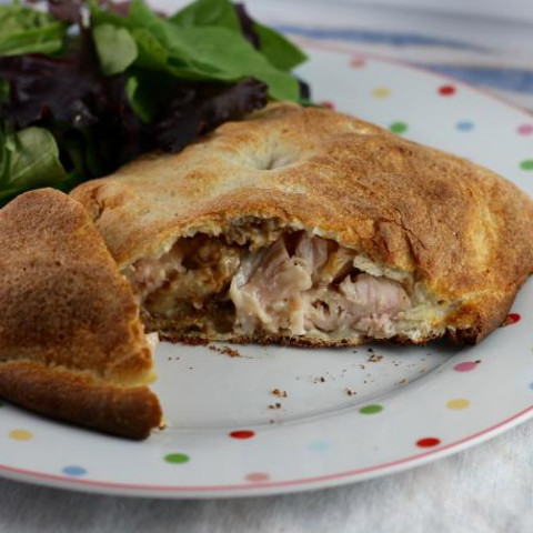Turkey and Stuffing Calzones is Perfect for Thanksgiving Leftovers
