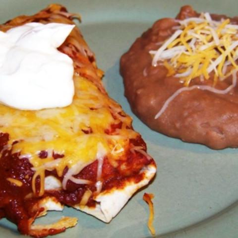 Turkey Enchiladas with sauce