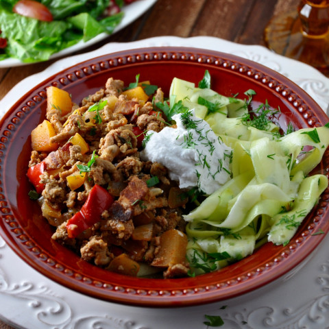 Turkey Goulash with Apple and Bacon