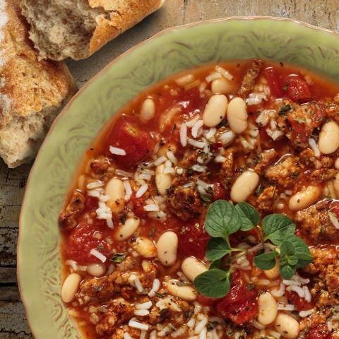 Tuscany Rice & Bean Soup