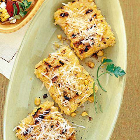 Grilled Polenta with Corn & Parmesan