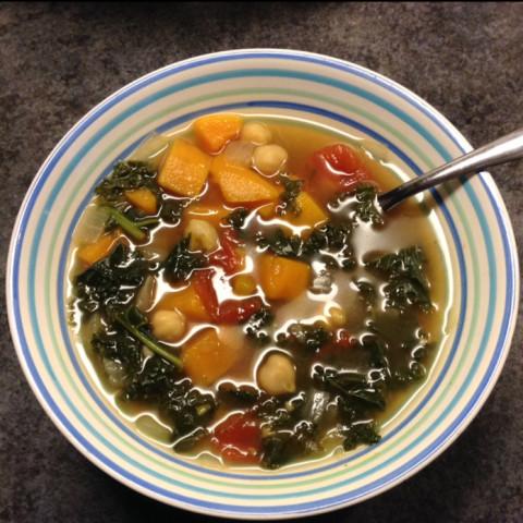 Vegan Sweet Potato And Kale Soup