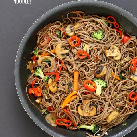 Vegan Vegetable Lo Mein with Soba Noodles