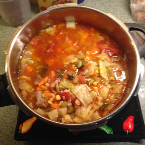 Vegetable Soup- Instant Pot / pressure cooker