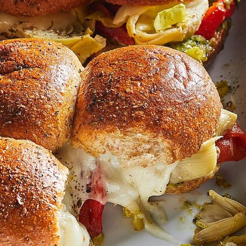 Vegetarian Antipasto Sliders