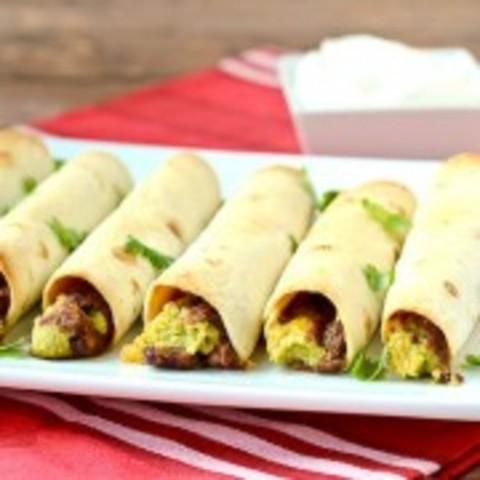 Vegetarian Baked Taquitos {5 ingredient!}