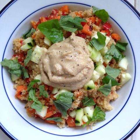 Veggie Couscous Bowls with Hummus