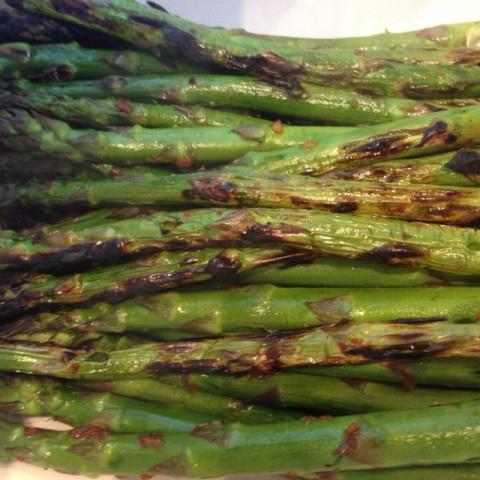 Veggie- Grilled Asparagus Rafts