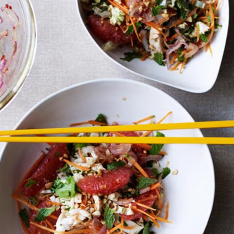 Vietnamese chicken and pink grapefruit salad