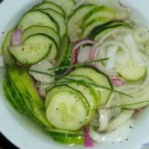Vinegar Cucumbers and Onions