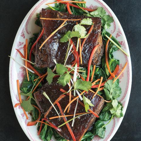 Wang Choy Chow Sau (Braised Pork Belly)